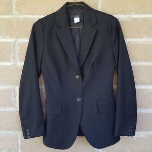 J. Crew. Black Blazer. 100% Wool. Size 0.